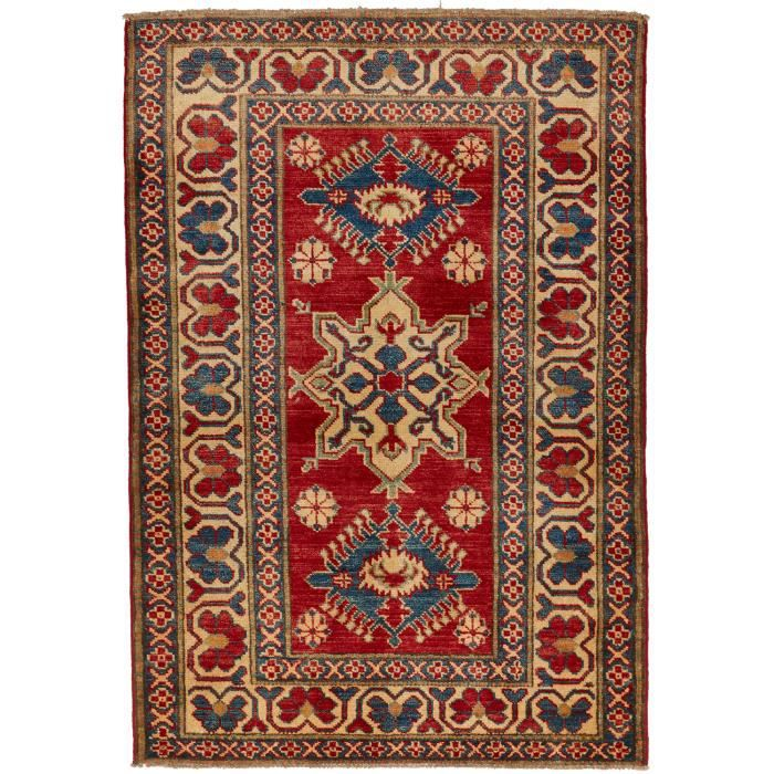 tapis d 39 orient nou main kazak 65 bleu 100x150 achat vente tapis cdiscount. Black Bedroom Furniture Sets. Home Design Ideas
