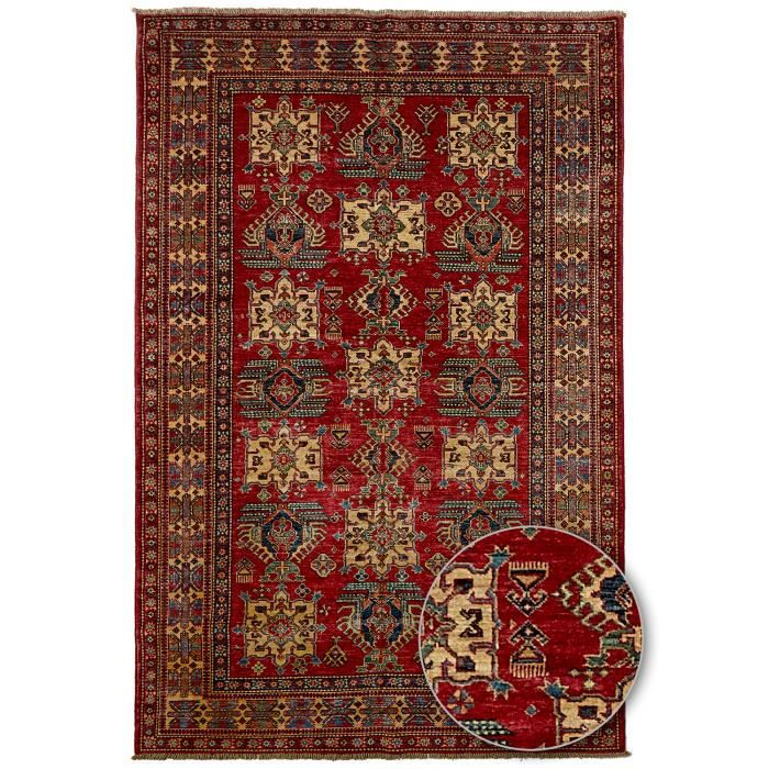 tapis d 39 orient nou main kazak 18 teinture vegetale rouge 175x265 par unamourdetapis achat. Black Bedroom Furniture Sets. Home Design Ideas