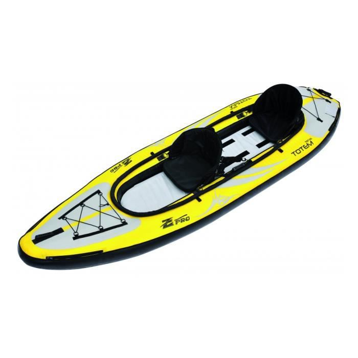 Kayak gonflable jaune 2 places 335 x 96 cm tote achat vente embarcation - Kayak gonflable 2 places ...