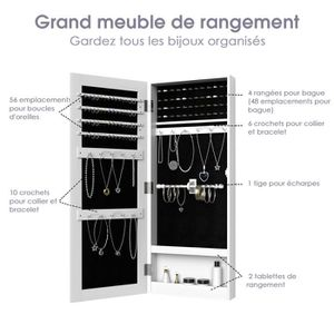 armoire a bijoux murale achat vente pas cher. Black Bedroom Furniture Sets. Home Design Ideas