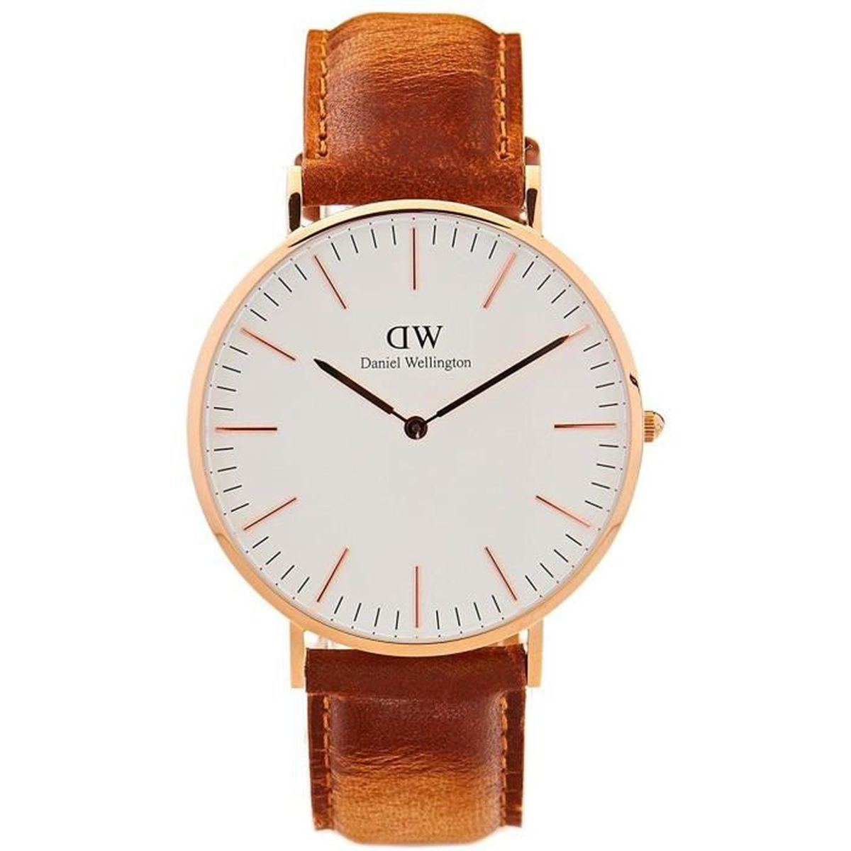 Montre daniel wellington homme bracelet marron