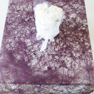 Smiffys Chemin de table rose clair rouleau intisse 30cmx 5m