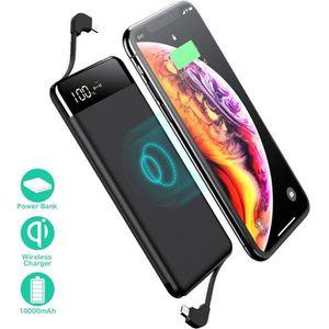 BATTERIE EXTERNE Chargeur portable sans fil, Batterie Externe 10000