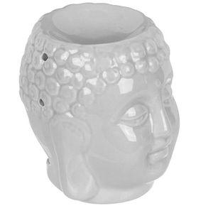 La Manufacture des Senteurs 38-2S-001 Diffuseur de parfum dint/érieur Huiles essentielles et Humidificateur Lumineux LED Bouddha Blanc Porcelaine H15,5 x 11,5 x 12 cm