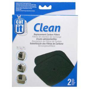 MAISON DE TOILETTE Recharge 2 filtres charbon pour maison de toilette