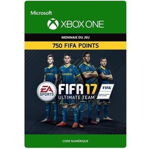 EXTENSION - CODE DLC FIFA 17 Ultimate Team: 750 Points pour Xbox On