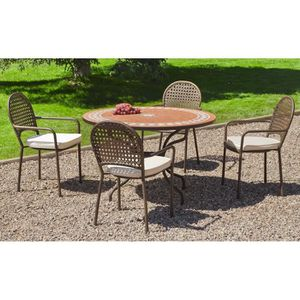table de jardin en mosaique achat vente table de jardin en mosaique pas cher soldes d s. Black Bedroom Furniture Sets. Home Design Ideas