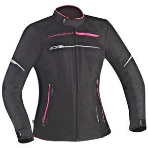 BLOUSON - VESTE IXON Blouson Moto Tissu Zetec Lady HP Noir et Rose