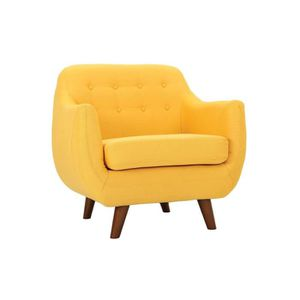 FAUTEUIL Miliboo - Fauteuil design déhoussable jaune YNOK
