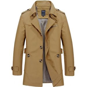 Imperméable - Trench Trench homme Coupe slim Jaune ZX-NSZ3001
