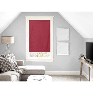 RIDEAU Brise bise en coton 45x90 cm PANAMA rouge. Petit v