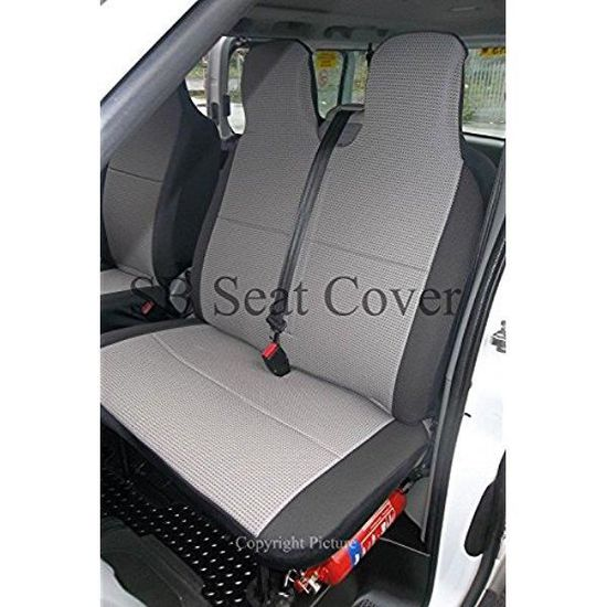 For Mercedes Citan 1+1 Grey Black Fabric Front Seat Covers