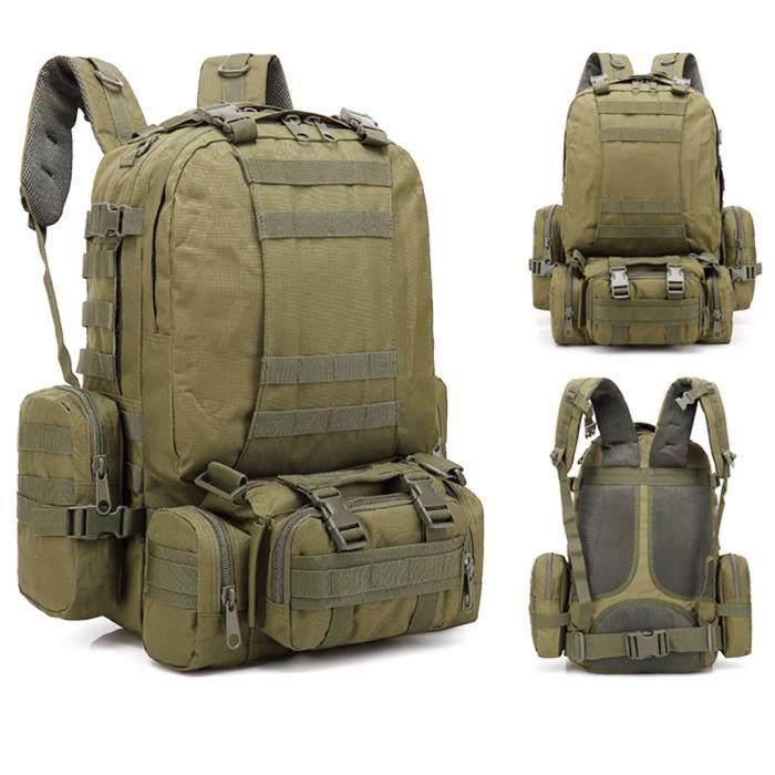 55L Molle Outdoor Bag Camping Randonnée Trekking Sac à dos BRF90606009F_7274