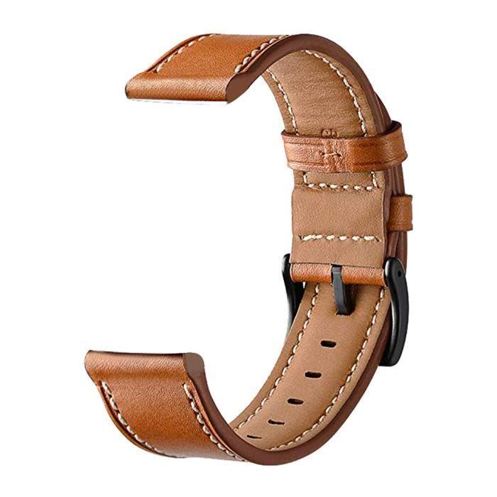 bracelet de montre vendu seul Bracelet de montre de remplacement en cuir pour Samsung Galaxy Watch active 20mm ZCQ90226101BW_wat