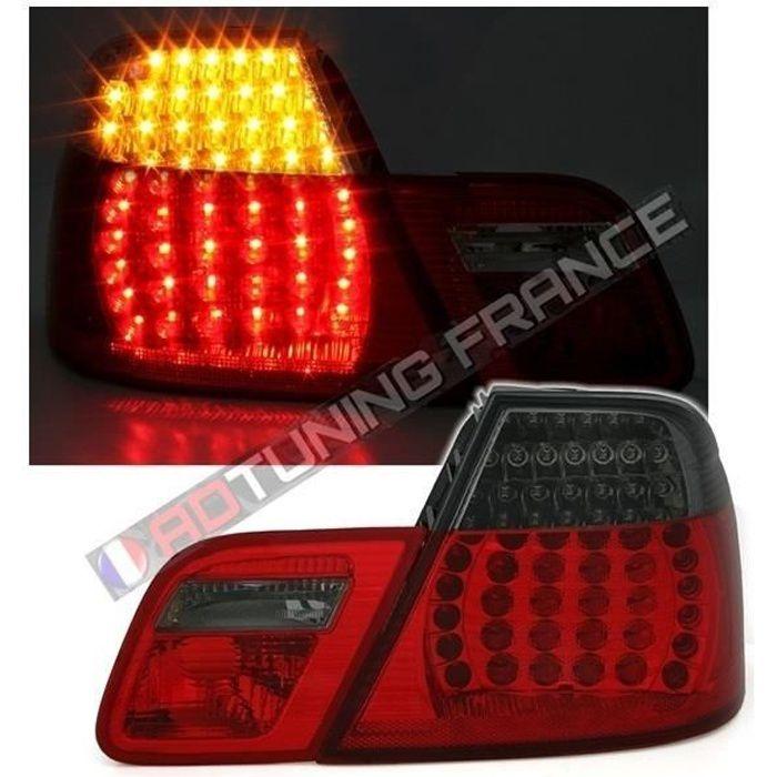2 FEUX ARRIERE A LED BMW E46 SERIE 3 COUPE PHASE 2 DE 04/2003 A 2006 ROUGE ET NOIR