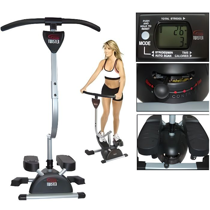Stepper marcheur-guidon pivotant-bidirectionnel-fitness - Cardio Twister