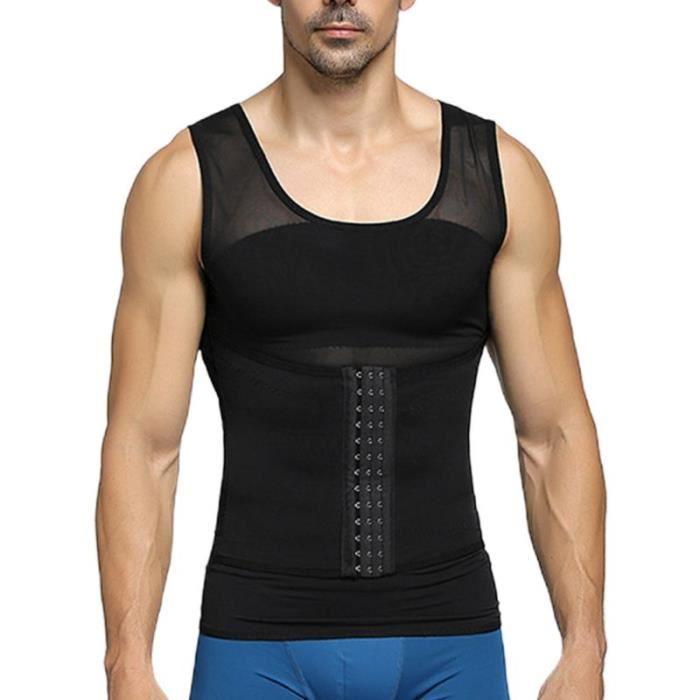 Gilet de contrôle du ventre réglable pour hommes, fermeture des yeux, crochet, entraîneur de taille, amincissant, ventre [AE51763]