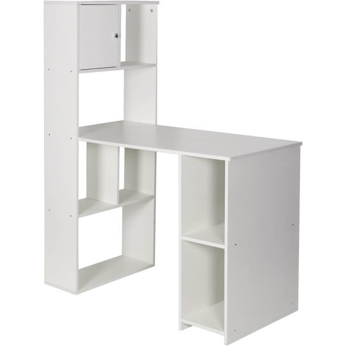 Bureau avec Bibliothèque -Chirs- - Blanc