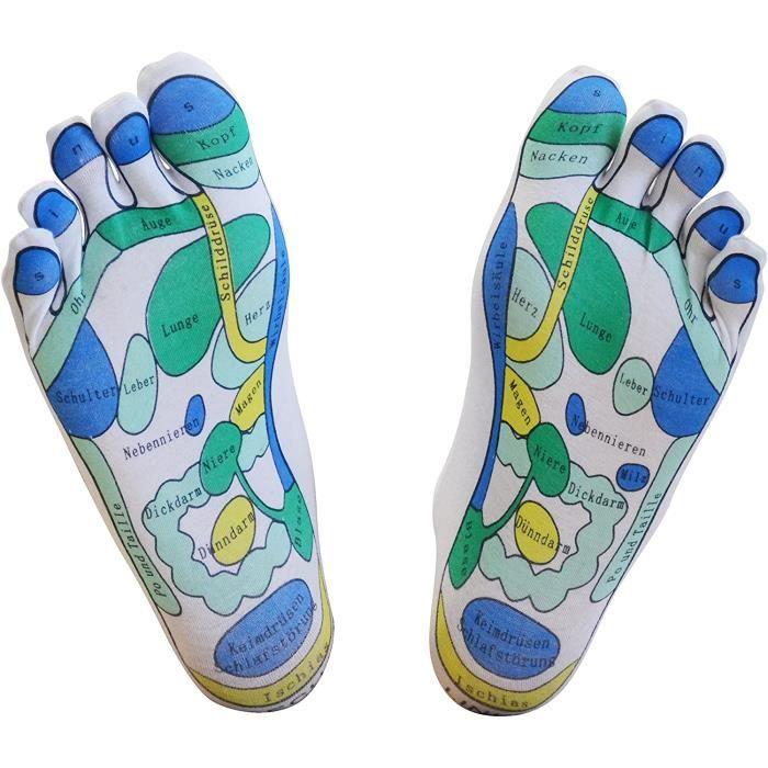 Accessoires de massage manuel chaussettes de réflexologie, 1 paire - maison pour la réflexologie facile, réflexologie de 178783