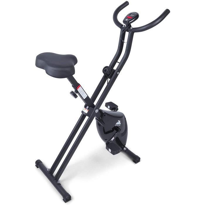 Vélo d'Appartement Pliable- Exercice Bike avec 8 Niveaux de Résistance- Siège Réglable- Affichage LCD- Vélo d'Intérieur Cardio-[197]