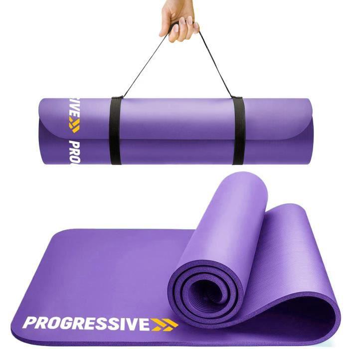 PROGRESSIVE Tapis de sol Tapis de sport Tapis de gymnastique Tapis de yoga en Mousse 183 cm x 60 cm x 1.2 cm Violet PRO120-PURPLE