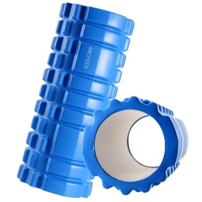 Rouleau de mousse de yoga Pilates pour le massage au point de déclenchement et la récupération musculaire Bleu @YC