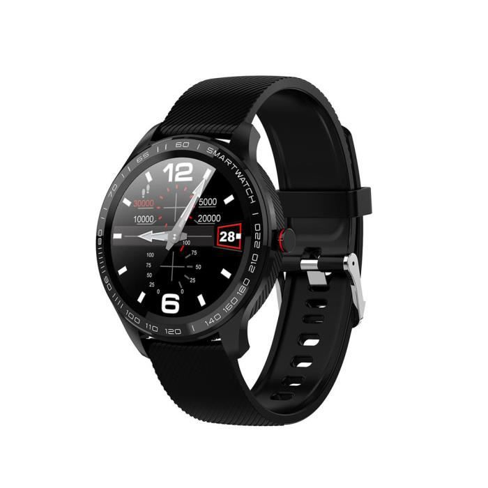 B Offre spéciale montre intelligente Microwear L9 1.3 pouces écran tactile rond complet 300mAh PPG + ECG fréquence cardiaque IP68 Fa