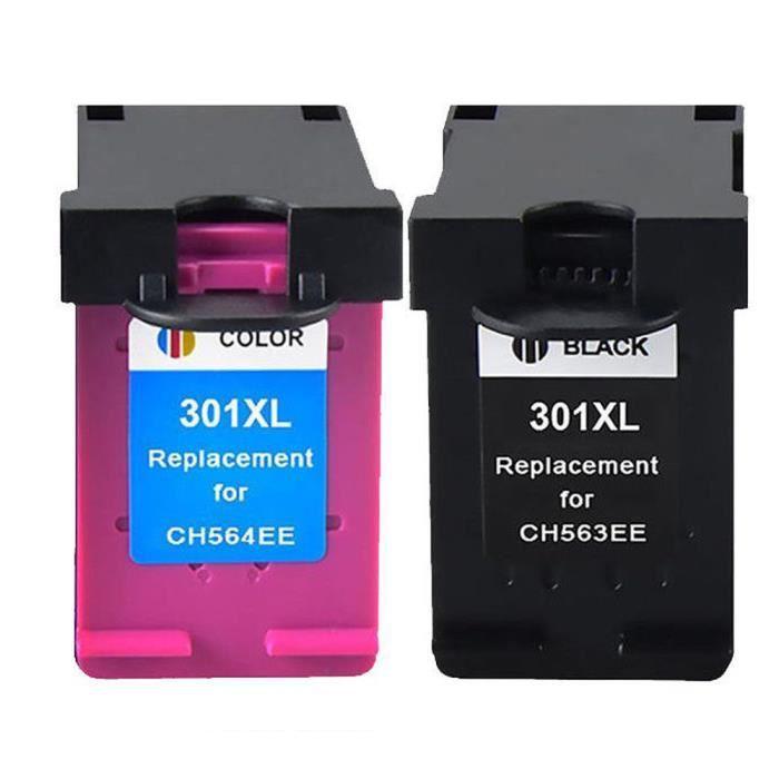 2 compatible cartouches d'encres pour HP 301XL Envy 4500 4502 4504 4505 4507