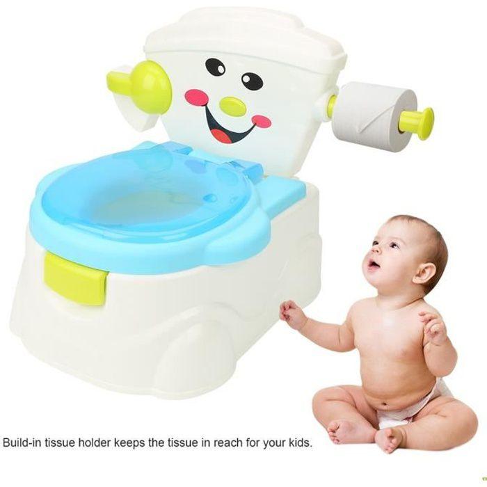 Pot Bébé, Toilette WC Bébé,en Plastique avec Bol à Déchets Détachable Toilette Portative -PAI