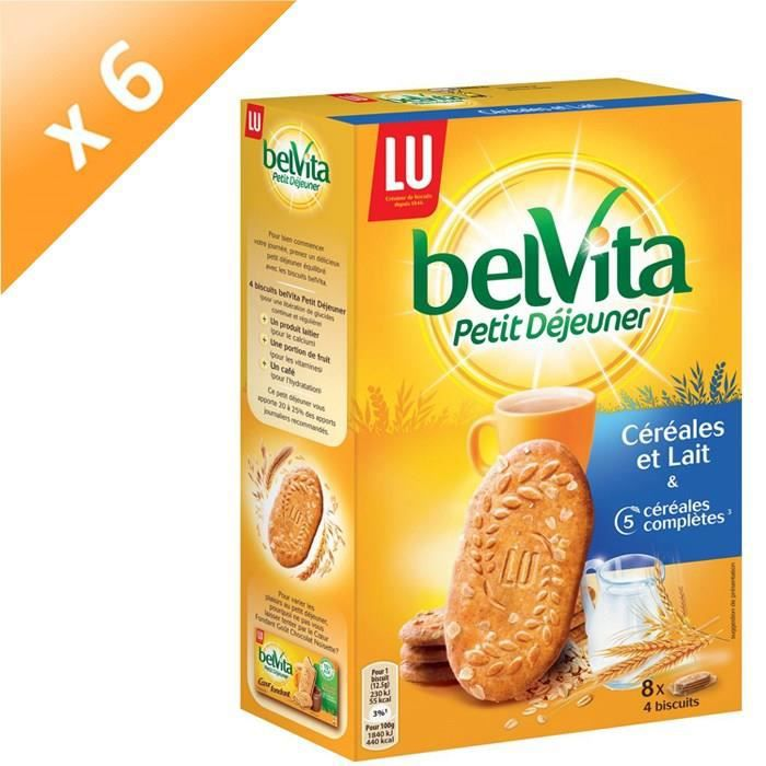 [LOT DE 6] BELVITA Sablés Lait Cereales 400g x5