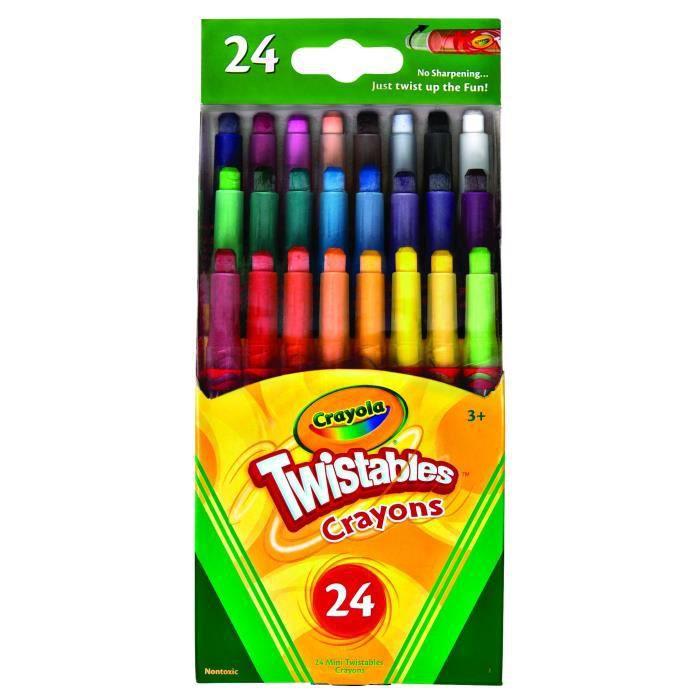 Jeu De Coloriage CRAYOLA 24ct Mini Twistables Crayons de couleur XOY55