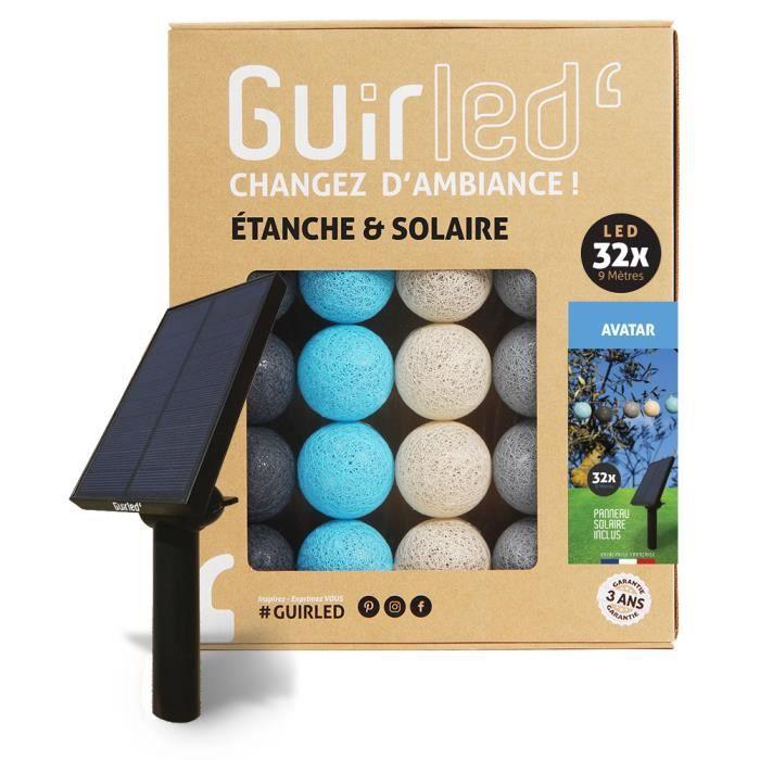 Guirlande lumineuse boules d'extérieur Solaire Guinguette LED- Étanche - 16 boules 3,2m - Avatar