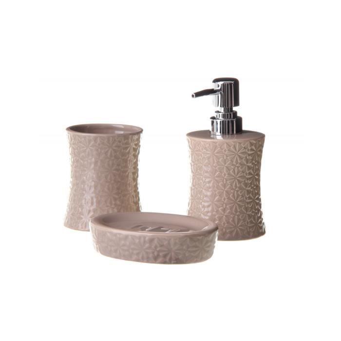 Salle de bains en céramique ensemble brun