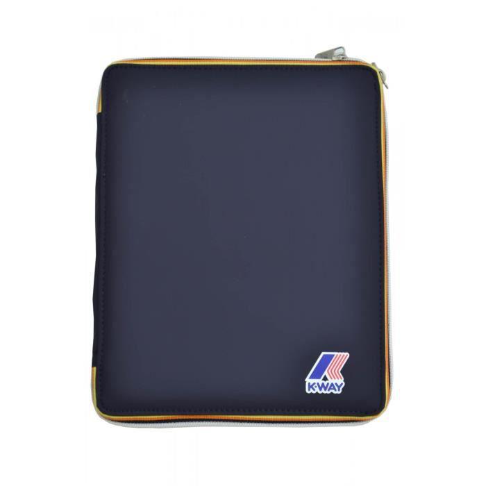 Pochette Ipad K-Way Jacques bleu marine - Couleur: Bleu marine - Taille: TU
