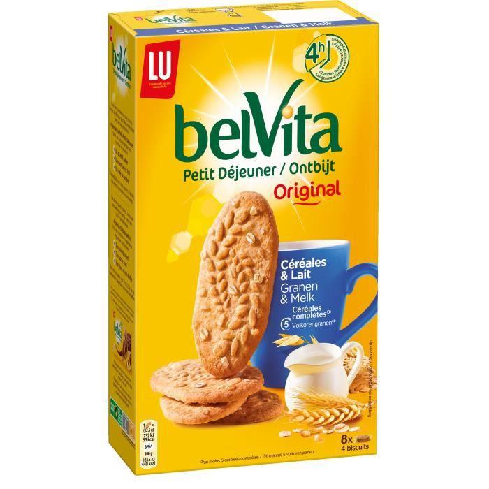 BELVITA Sablés Lait Cereales 400g x5