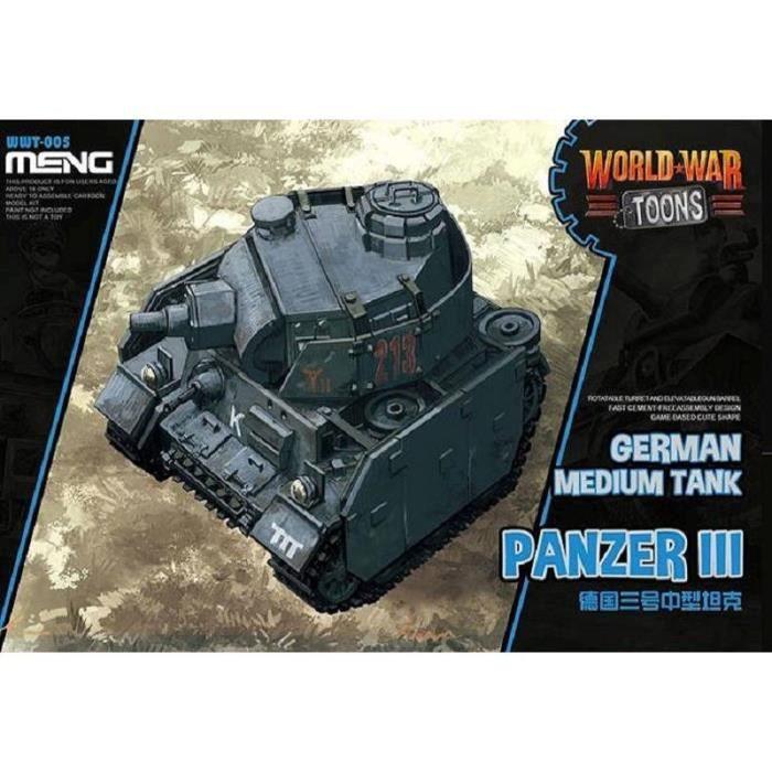 Maquette Char World War Toons German Medium Tank Panzer Iii - MENG