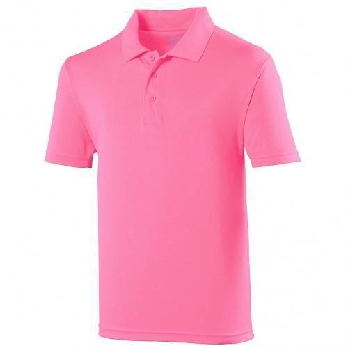 Polo sport uni Just Cool pour homme Rose électr...
