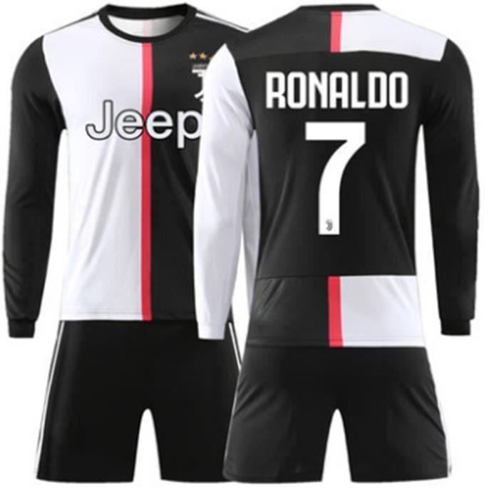 Nouveau Manches Longues Maillot et Shorts de Football Cristiano Ronaldo NO.7 Juventus 19/20 Homme
