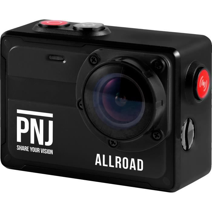 PNJ CAMALLROAD Action cam - 4K/Ultra HD - Étanche - Grand Angle 130° - 8MP