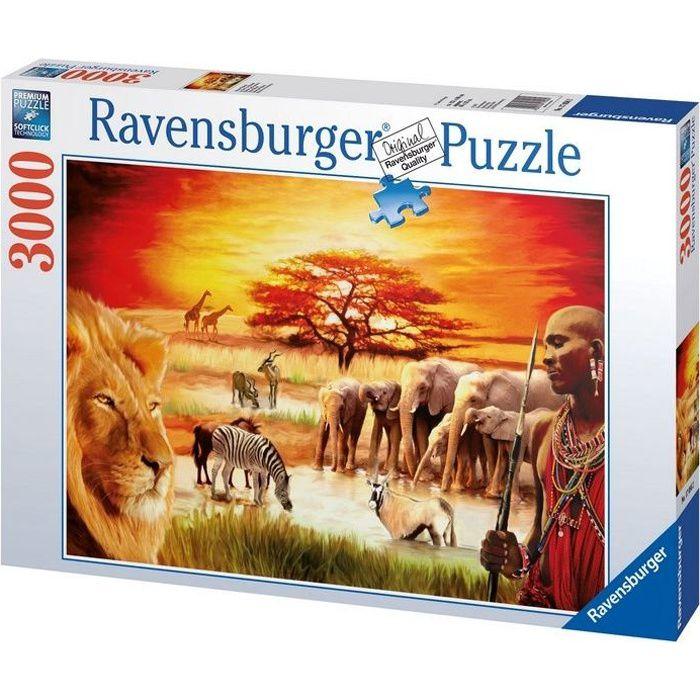 Puzzle 3000 pièces - La fierté du Massaï - Ravensburger - Puzzle adultes - Dès 14 ans