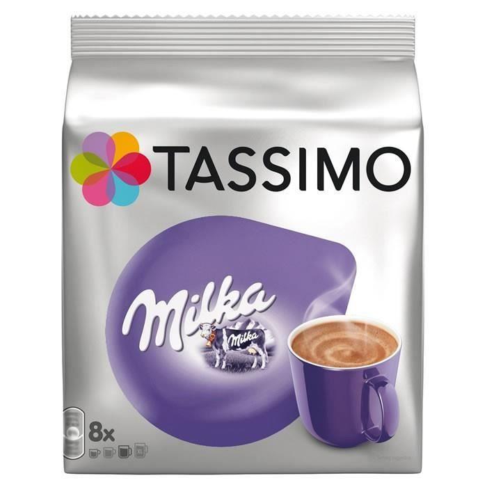 TASSIMO Milka - Dosettes pour Chocolat Chaud 8 capsules