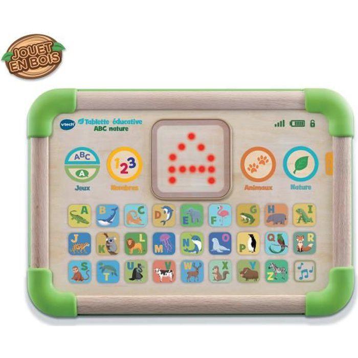 VTECH BABY Tablette Éducative ABC Nature - Jouet Bois Fsc