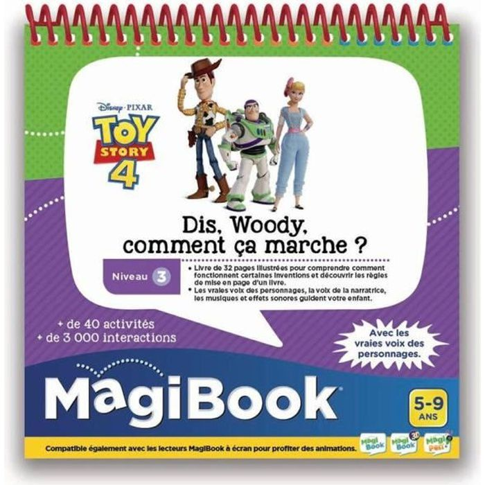 VTECH - MAGIBOOK - TOY STORY 4 - Dis Woody, Comment ça marche ?