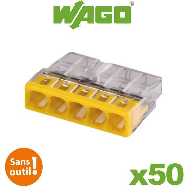 Flacon de 50 mini bornes 5 fils S2273 WAGO