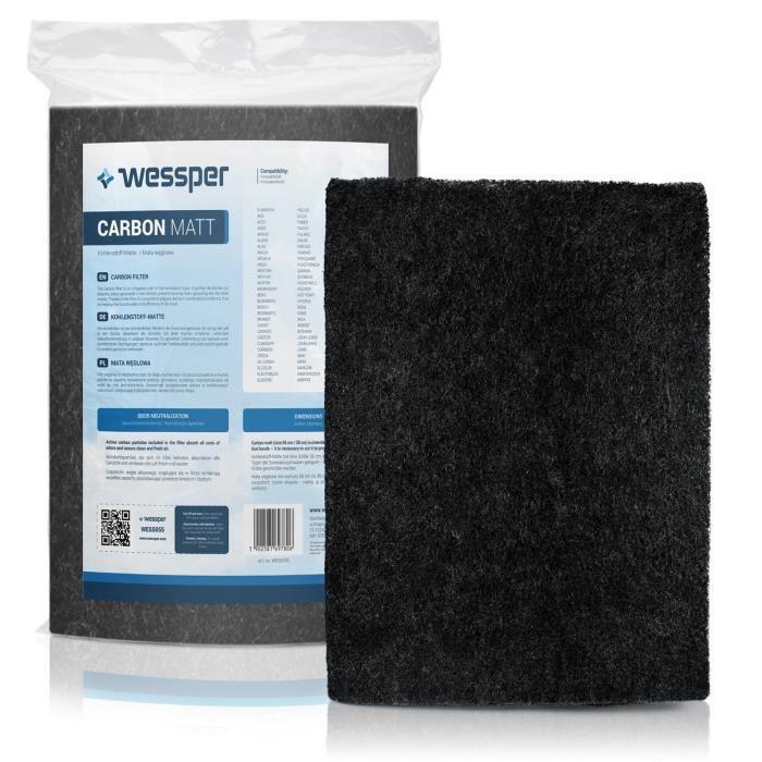 Filtre à charbon pour hotte Whirlpool AKR 420 NB-1, Forme: natte