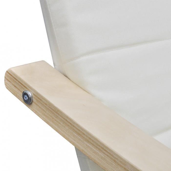 Fauteuil en bois courbé couleur crème noir avec repose-pieds
