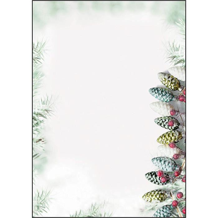 Papier à Lettre Noel à Imprimer Gratuit Format A4 - Template Exemple de Lettre