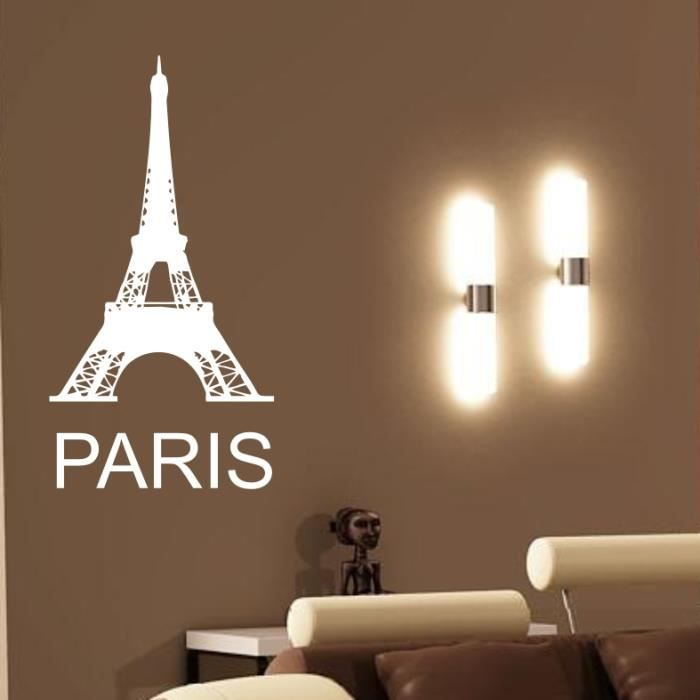 sticker mural paris tour eiffel 2 sticker fushia achat vente stickers cdiscount. Black Bedroom Furniture Sets. Home Design Ideas