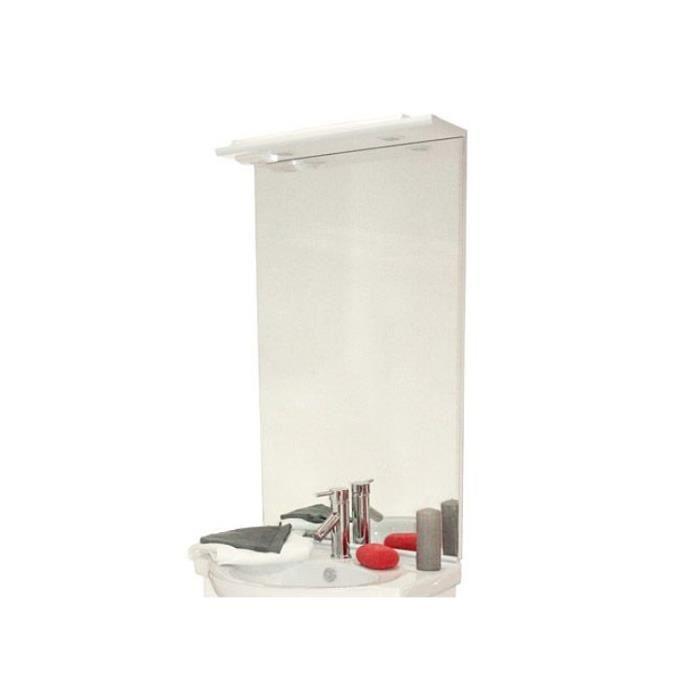Miroir éclairant avec 2 spots Azor 80 - Achat / Vente miroir ...