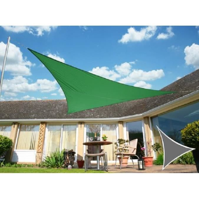 voile d 39 ombrage vert triangle 3 6m imperm able 160g m2 kookaburra achat vente parasol. Black Bedroom Furniture Sets. Home Design Ideas